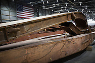 Artifacts chosen by curators out of the wreckage  from the World Trade Center  temporarily stored within an 80,000 square foot hanger at JFK airport, Hanger 17. Some of the artifacts will be in the National September 11 Memorial Museum set to open in 2012.
