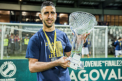 Marwan Kabha #24 of NK Maribor celebrates with a trophy after winning during football match between NK Celje and NK Maribor in Final of Slovenian Cup 2016, on May 25, 2016 in Stadium Bonifika, Koper, Slovenia. Photo by Vid Ponikvar / Sportida
