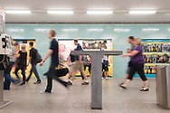 """The tables of cement on Aexanderplatz U-bahn station are been maded on """"wall style"""""""