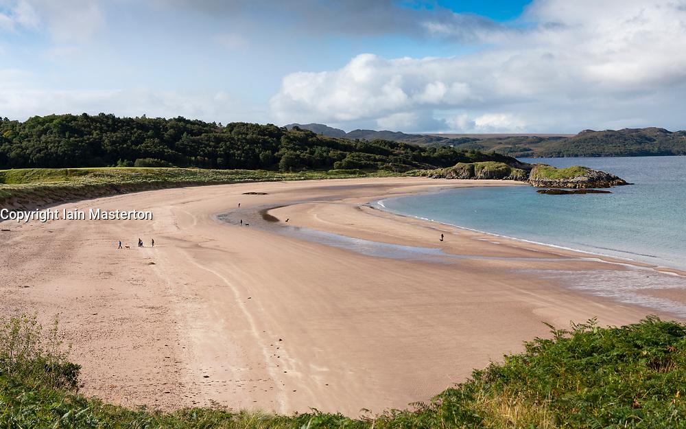 Beach, Gaineamh Mhor,  outside Gairloch village on Loch Gairloch in Wester Ross, Scotland, UK