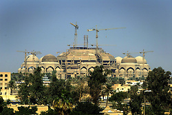 One of the two grand mosques is seen unfinished in Baghdad, Iraq, Sept. 29, 2003.