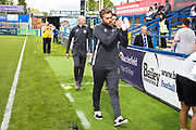 Macclesfield Town manager Daryl McMahon before the EFL Sky Bet League 2 match between Macclesfield Town and Crawley Town at Moss Rose, Macclesfield, United Kingdom on 7 September 2019.