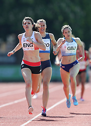 Mari Smith in the 800m during the Loughborough International Athletics Meeting at the Paula Radcliffe Stadium, Loughborough. PRESS ASSOCIATION Photo. Picture date: Sunday May 20, 2018. See PA story ATHLETICS Loughborough. Photo credit should read: David Davies/PA Wire.