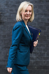 Downing Street, London, October 18th 2016. Justice Secretary and Lord Chancellor Liz Truss leaves 10 Downing Street in London following the weekly cabinet meeting.