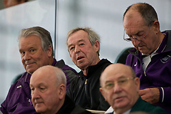 EDINBURGH, SCOTLAND - Sunday, October 30, 2016: Former Wales manager Brian Flynn watches Scotland take on Northern Ireland during the opening match of the Under-16 2016 Victory Shield at ORIAM. (Pic by David Rawcliffe/Propaganda)