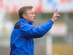 Yeovil coach Terry Skiverton gives orders.  - Mandatory byline: Alex Davidson/JMP - 07966 386802 - 10/10/2015 - FOOTBALL - Huish Park - Yeovil, England - Yeovil v Dagenham - Sky Bet League Two
