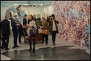 DARA HUANG; SIRINE OJJEY; TATIANA OJJAY;Opening of Frieze art Fair. London. 14 October 2014
