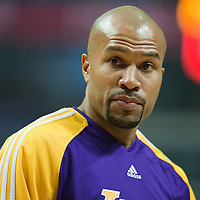 15 December 2009: Los Angeles Lakers guard Derek Fisher is seen prior to the Los Angeles Lakers 96-87 victory over the Chicago Bulls at the United Center, in Chicago, Illinois, USA.