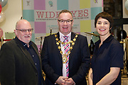 31/01/2018  retro free :  ProfessorPat Dolan,UNESCOChair in Children, Youth and Civic Engagement, Mayor of Galway Pearce Flannery  and Aislinn Ó hEocha Artistic Director Baboro at the launch of  at the launch of Wide Eyes, a unique one-off European arts extravaganza for babies and children aged 0 – 6. Hosted by Baboró, Wide Eyes will take place in Galway till Sun 4 February. This imaginative programme will feature 15 new theatre and dance shows from some of Europe's finest creators of Early Years work from Austria, Belgium, Denmark, Finland, France, Germany, Hungary, Italy, Poland, Romania, Slovenia, Spain, Sweden, UK and Ireland. For more see www.wideeyesgalway.ie<br /> <br /> Wide Eyes will welcome almost 200 artists and arts professionals from almost 20 countries to enthral and engage children over four jam-packed days. Photo:Andrew Downes, XPOSURE