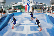 Royal Caribbean International's  Independence of the Seas, the world's largest cruise ship.....Flowrider *** Local Caption *** Flowrider