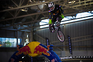 #186 (SCHOTMAN Mitchel) NED at the 2014 UCI BMX Supercross World Cup in Manchester.