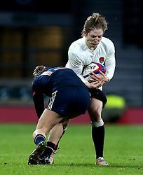 Lydia Thompson of England is tackled - Mandatory by-line: Robbie Stephenson/JMP - 04/02/2017 - RUGBY - Twickenham - London, England - England v France - Women's Six Nations