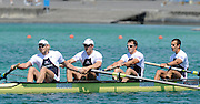 Munich, GERMANY,GBR M4-, Bow Tom LUCY, Steve WILLIAMS, Peter REED and Andy TRIGGS HODGE, at the FISA world Cup Munich, held on the Olympic Rowing Course, 11/05/2008  [Mandatory Credit Peter Spurrier/ Intersport Images] Rowing Course, Olympic Regatta Rowing Course, Munich, GERMANY