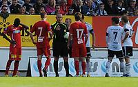 Fotball Tippeligaen Rosenborg - Lillestrøm<br /> 7 juli 2013<br /> Lerkendal Stadion, Trondheim<br /> <br /> Dommer Kjetil Sælen kom i fokus flere ganger denne kampen og her i diskusjon med Lillestrøms Erik Mjelde (17), Johan Andersson (7) og Rosenborgs kaptein Tore Reginiussen (skjult bak Erik Mjelde)<br /> <br /> <br /> Foto : Arve Johnsen, Digitalsport