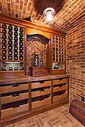 Residential Custom Wine Cellar Stock Photo
