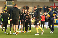 Burton Albion midfielder Marcus Harness (16) warms up during the EFL Sky Bet League 1 match between Burton Albion and Coventry City at the Pirelli Stadium, Burton upon Trent, England on 17 November 2018.