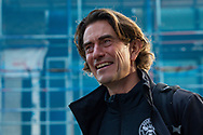 Brentford manager Thomas Frank smiles as he arrives at the Brentford Community Stadium before the EFL Sky Bet Championship match between Brentford and Middlesbrough at Brentford Community Stadium, Brentford, England on 7 November 2020.