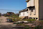 Abandoned homes on the Lower Ninth Ward which flooded most catastrophically after 2005s Hurricane Katrina on 11th March 2020 in New Orleans, Louisiana, United States.
