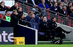 Liverpool manager Jurgen Klopp (left) appears dejected as he leans against his dugout