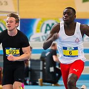 NLD/Apeldoorn/20180217 - NK Indoor Athletiek 2018, 60 meter heren, Stefan Scholte, Elvis Afrifa
