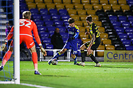 AFC Wimbledon attacker Ryan Longman (29) battles for possession with Bristol Rovers defender Jack Baldwin (26) during the EFL Sky Bet League 1 match between AFC Wimbledon and Bristol Rovers at Plough Lane, London, United Kingdom on 5 December 2020.