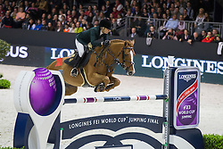 Alexander Edwina (AUS) - Old Chap Time<br /> Longines FEI World Cup™ Jumping Final 2013/2014<br /> Lyon 2014<br /> © Dirk Caremans