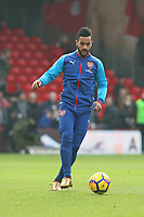 Football - 2017 / 2018 Premier League - AFC Bournemouth vs. Arsenal<br /> <br /> Theo Walcott of Arsenal starts another match from the subs bench at Dean Court (Vitality Stadium) Bournemouth <br /> <br /> COLORSPORT/SHAUN BOGGUST