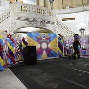 Circus performs at Newark City Hall 2015