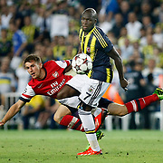 Fenerbahce's Moussa Sow (C) during the UEFA Champions League Play-Offs First leg soccer match Fenerbahce between Arsenal at Sukru Saracaoglu stadium in Istanbul Turkey on Wednesday 21 August 2013. Photo by /TURKPIX