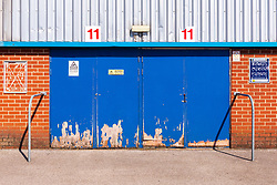 A general view of turnstiles at the One Call Stadium, home to Mansfield Town - Mandatory by-line: Ryan Crockett/JMP - 01/09/2018 - FOOTBALL - One Call Stadium - Mansfield, England - Mansfield Town v Carlisle United - Sky Bet League Two
