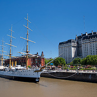 The Frigate functions as a museum today and is moored at Puerto Madero in Buenos Aires.