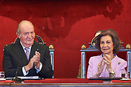 050817 Spanish Royals Attend Delivery to Princess Margarita of the Gold Medal of the Royal National