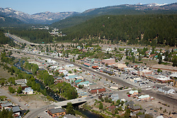 """""""Downtown Truckee Aerial 4"""" - Downtown Truckee photographed from a helicopter."""