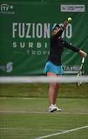 Laura Robson on Day Six of the Fuzion 100 Surbiton Trophy at the Surbiton Racket & Fitness Club, Surrey, United Kingdom.<br /> Picture by Daniel Hambury/Focus Images Ltd 07813022858<br /> 07/06/2018