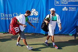Nik Razborsek (SLO) and Tom Kocevar Desman (SLO)  after they played doubles during Day 4 of ATP Challenger Zavarovalnica Sava Slovenia Open 2018, on August 6, 2018 in Sports centre, Portoroz/Portorose, Slovenia. Photo by Vid Ponikvar / Sportida