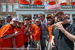 Moonshiner Josh Owens before the start of the Legends Ride from Deadwood during the 75th Annual Sturgis Black Hills Motorcycle Rally.  SD, USA.  August 3, 2015.  Photography ©2015 Michael Lichter.