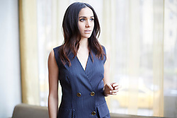 *PREMIUM EXCLUSIVE NO WEB UNTIL 3PM EDT MAY 5* The photos surfaced as an unnamed industry videographer who worked closely with Meghan Markle before she met her husband Prince Harry revealed she was already called 'princess' because of her 'difficult' and 'demanding' behavior on set. According to the professional cameraman, Meghan would bring a large entourage with her on set and laid down a strict set of rules – including not to shoot her feet.The 38-year-old's feet became a hot topic of conversation after she took off her shoes during a royal tour in New Zealand in 2018, revealing what some thought was a scar from a bunion-removal operation. Meanwhile lifestyle photographer Tommy Mendes, who took the shots in 2015, said Meghan was 'intense', turned up with a 12-strong entourage and seemed like a woman 'on a mission'. In the images, Meghan appears very business like in a series of smart and stylish outfits appropriate for the office. Mendes, 44, who now is a managing partner at popular Bar Belly in Manhattan, shot Meghan for the now defunct New York lifestyle website The Aesthete in 2015, before she had met the prince. 'She was an intense person for sure,' he said. 'When you go to a photoshoot it's usually just a couple of people, but she had like 12 people with her there. Her own make-up, people like that. It was a little bit unusual. 05 May 2020 Pictured: Meghan Markle. Photo credit: MEGA TheMegaAgency.com +1 888 505 6342