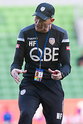 January 19, 2019 - Melbourne, VIC, U.S. - MELBOURNE, VIC - JANUARY 19: Perth Glory assistant coach Hayden Foxe gestures during warm up at the Hyundai A-League Round 14 soccer match between Melbourne City FC and Perth Glory on January 19, 2019, at AAMI Park in VIC, Australia. (Photo by Speed Media/Icon Sportswire) (Credit Image: © Speed Media/Icon SMI via ZUMA Press)