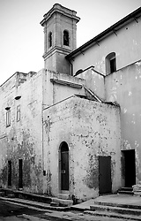 Angolo della chiesa del Canneto, al porto di Gallipoli (LE), Italia