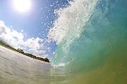 Early morning shore break at Big Beach on Maui.