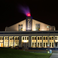 Night at the museum, Seattle style - MOHAI on South Lake Union on cold winter's night.