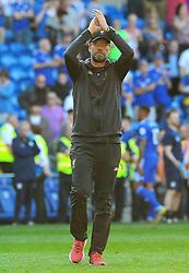 Liverpool manager Jurgen Klopp after the final whistle- Mandatory by-line: Nizaam Jones/JMP - 21/04/2019 -  FOOTBALL - Cardiff City Stadium - Cardiff, Wales -  Cardiff City v Liverpool - Premier League