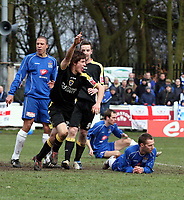 Photo: Mark Stephenson.<br /> Chasetown v Cardiff City. FA Cup Third Round. 05/01/2008.<br /> Cardiff's Alan Ramsey celebrates his goal for 2-1