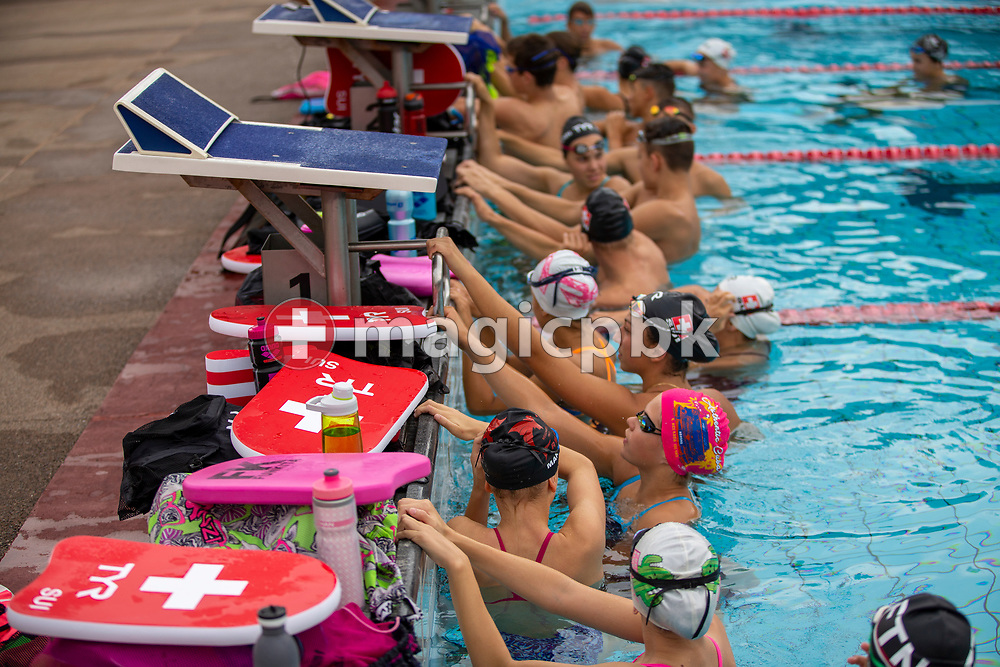 Swiss Swimming youth swimmers are pictured during a training session of the Swiss Swimming National team held at the Centro sportivo nazionale della gioventu in Tenero, Switzerland, Saturday, Sept. 19, 2020. (Photo by Patrick B. Kraemer / MAGICPBK)
