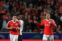 20111029: LISBON, PORTUGAL - SL Benfica vs Olhanense: Portuguese League 2011/2012. <br /> In photo: Benfica's forward Rodrigo Moreno celebrates this second goal on the match.<br /> PHOTO: Carlos Rodrigues/CITYFILES