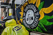"""Striking workers at the National gallery are campaigning against its privatisation and calling for the reinstatement of our rep and negotiator Candy Udwin who was suspended on the eve of the strike. They then marched to the Getty Images Gallery (pictured) to deliver a letter for Mark Getty, chair of the Gallery trustees. This is the second 5 day strike and picket lines are outside the gallery between 9am and 11am every morning. Channel 4 News presenter Jon Snow tweeted his support at the weekend, saying: """"As a former trustee, I'm shocked that our key duty: safeguarding the art is to be done by private contractors."""" During the first strike week a 40,000-name petition was handed to the Department for Culture, Media and Sport. And this time almost 9,000 have now signed an online statement. The strike is supportd by the TUC and the PCS union."""