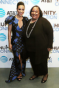 New York, NY-March 15: (L-R) Angela Rye (Honoree), President, Impact Strategies and Tanya Lombard, Assistant Vice President for the Public Affairs, AT&T attend the 2018 'Humanity of Connection' Awards Ceremony powered by AT&T and held at Jazz at Lincoln Center on March 15, 2018 in New York City. (Photo by Terrence Jennings/terrencejennings.com)