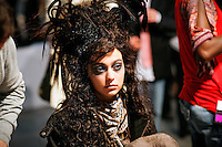 Morgane Dubled Backstage at Christian Lacroix Couture Fall 2007