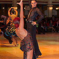 Jaime Dieguez and Anna Dieguez of Great Britain perform their dance during the Professional Rising Stars Latin-american competition of the Blackpool Dance Festival the most famous event among dance competitions held in Empress Ballroom Wintergardens, Blackpool, United Kingdom on May 28, 2010. ATTILA VOLGYI