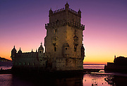 PORTUGAL, LISBON, BELEM, Torre de Belem; castle on harbor
